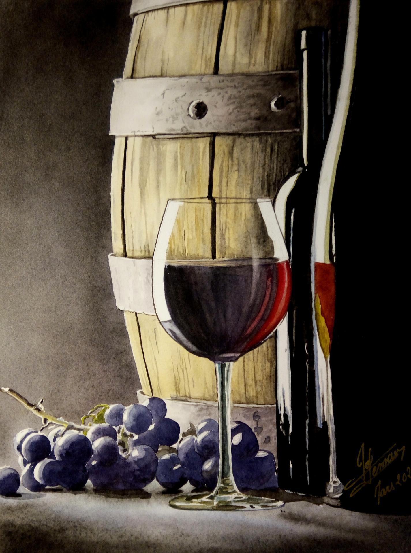 barrique , raisin et vin