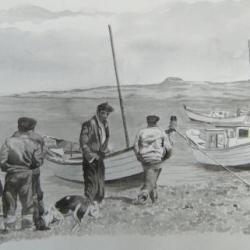 65x46 cmfete des marins miquelon années 60 sur photo Francois Detcheverry