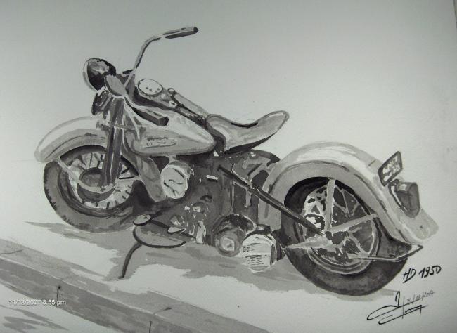 1103 harley 1950  41x31cm