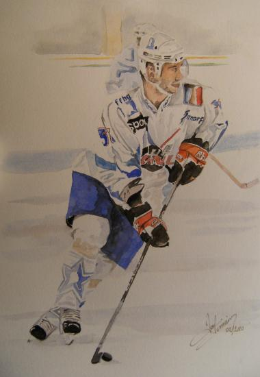 11/25joueur de hockey 165 euros