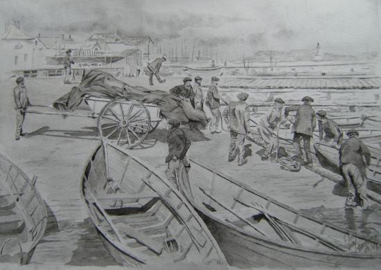 11/22chargement voiles 1902 quai ronciere spm photo docteur dhoste