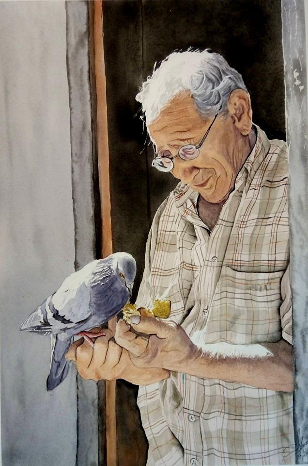 L'artiste et l oiseau