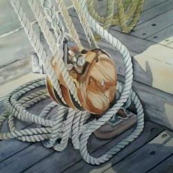 palan double tribord marité