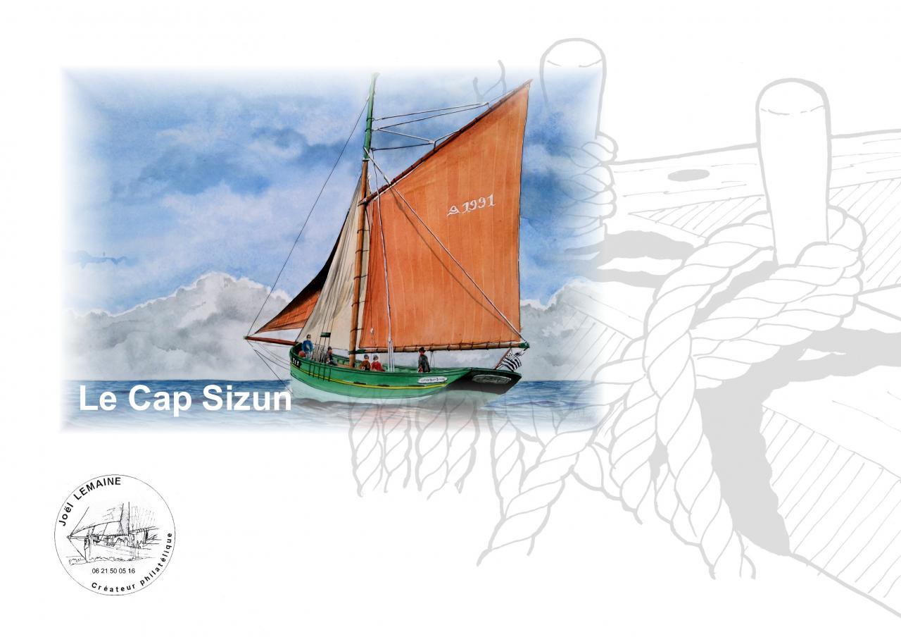 Plaquette cap sizun timbre 2017