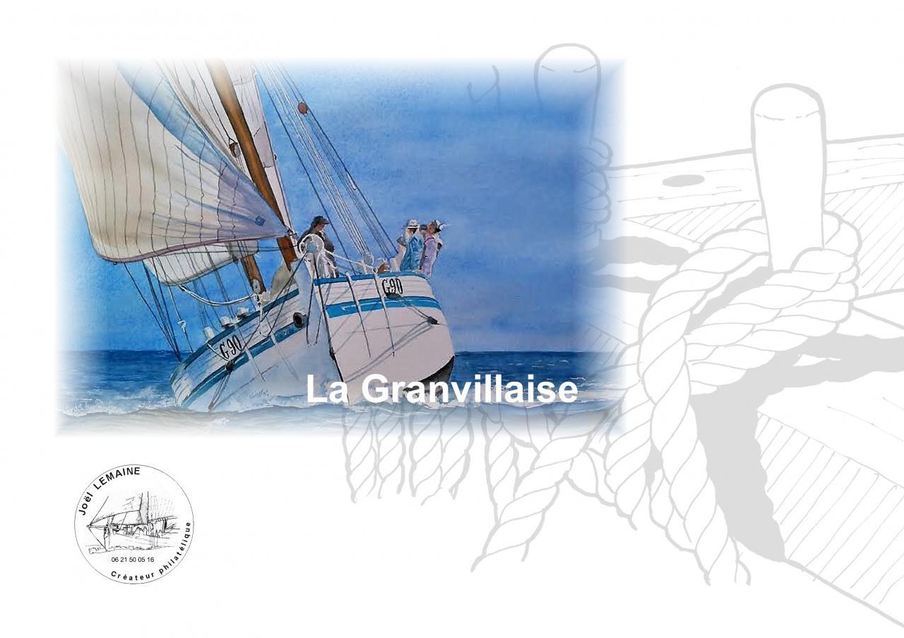 Plaquette Granvillaise timbre 2017