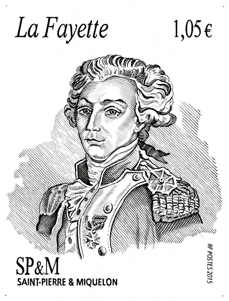 Poincon du timbre La Fayette