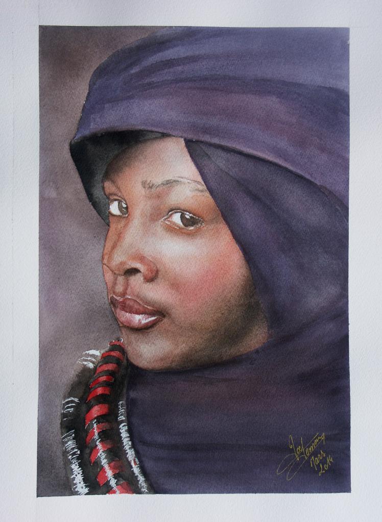 portrait jeune congolaise