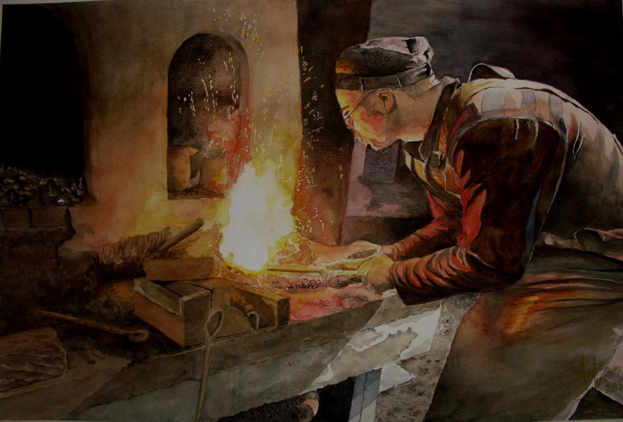 forge Lebailly sur photo de mon ami JC Lespagnol